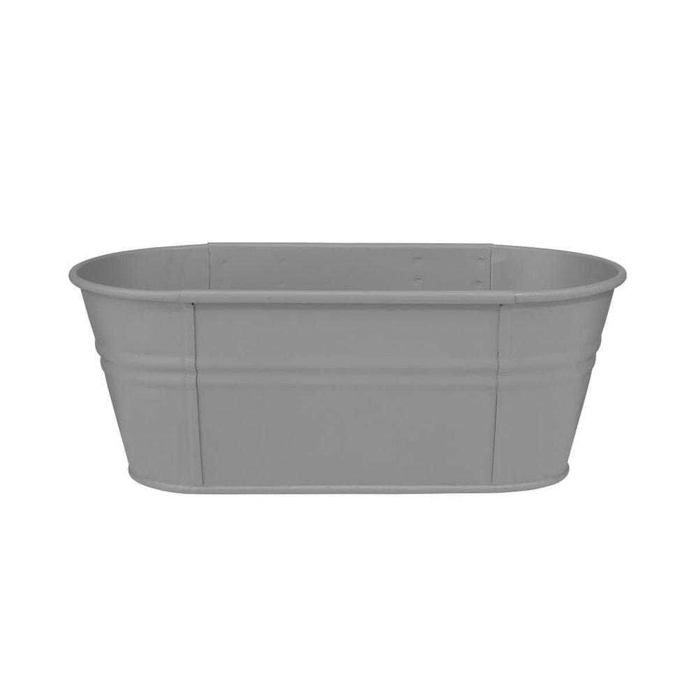 ZINC Truhlík oválný 40 cm - šedá