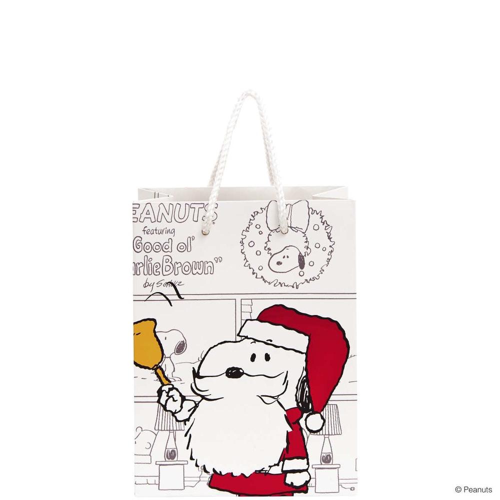 PEANUTS Dárková taška Santa Snoopy malá