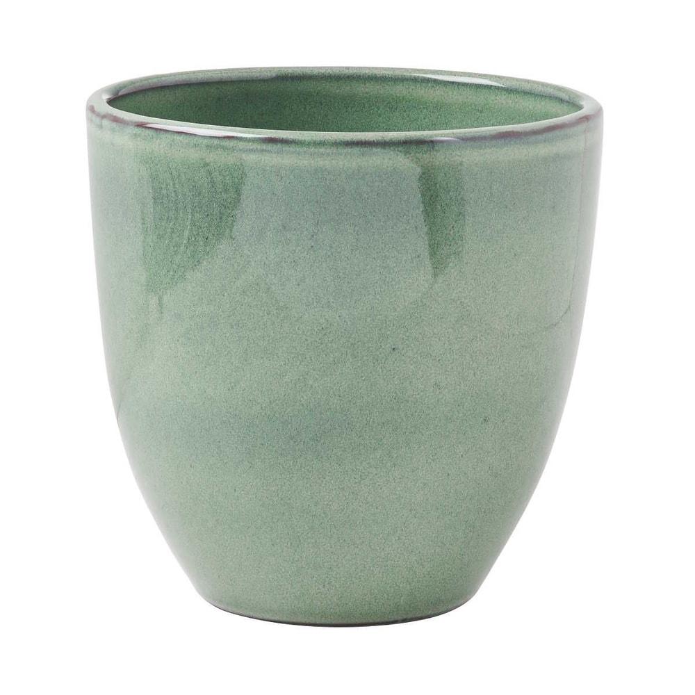 GLAZE Květináč 19,5 cm - zelená