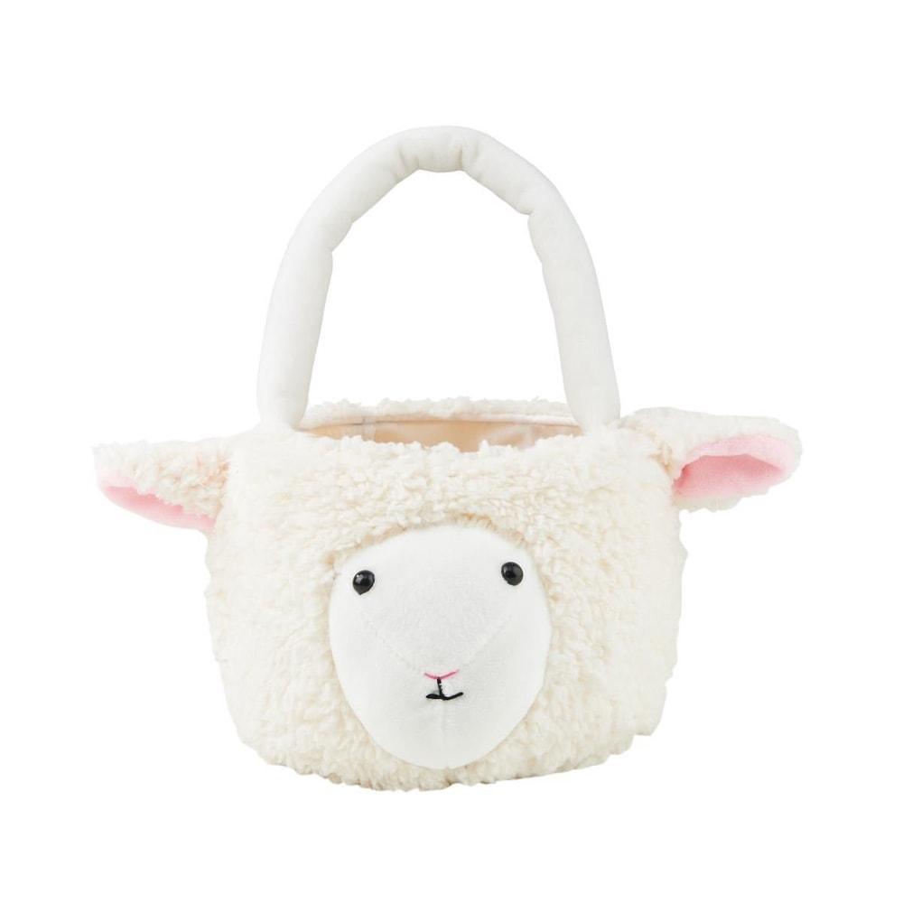 EASTER Plyšový košíček ovečka