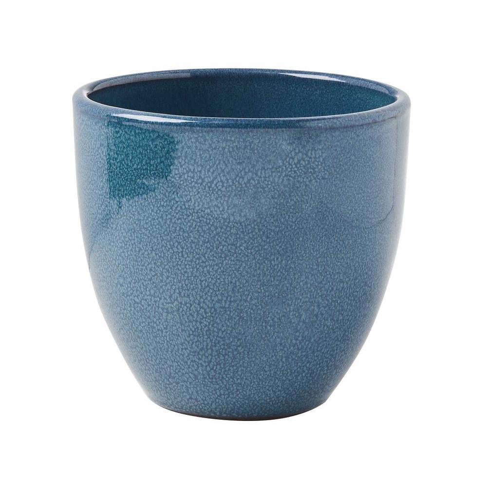 GLAZE Květináč 15 cm - modrá