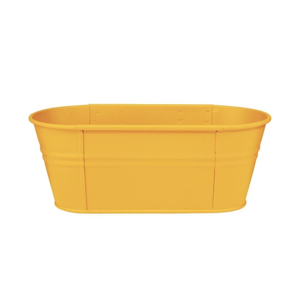 ZINC Truhlík oválný 40 cm - žlutá