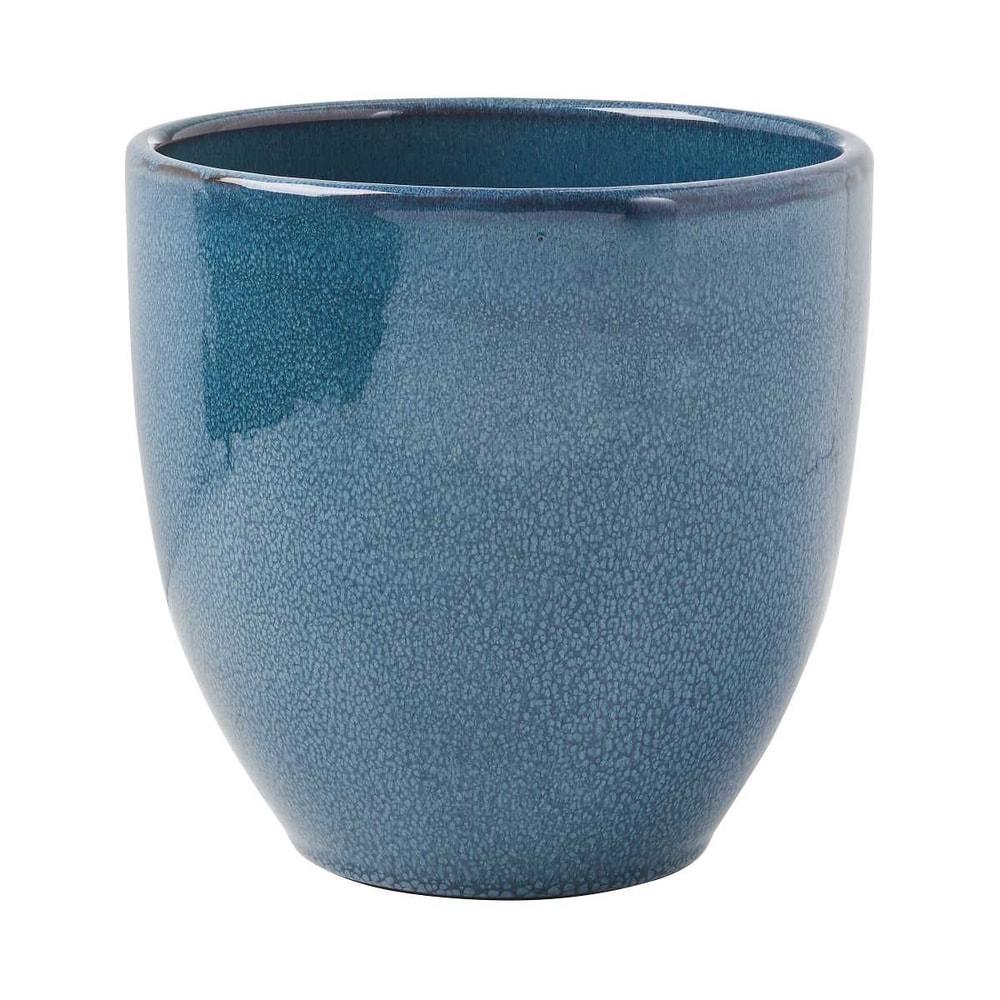 GLAZE Květináč 19,5 cm - modrá