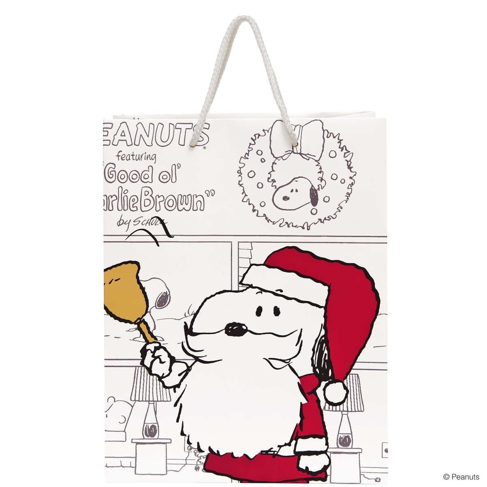 PEANUTS Dárková taška Santa Snoopy velká
