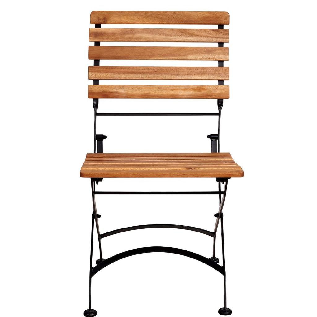 PARKLIFE Skládací židle - hnědá/černá