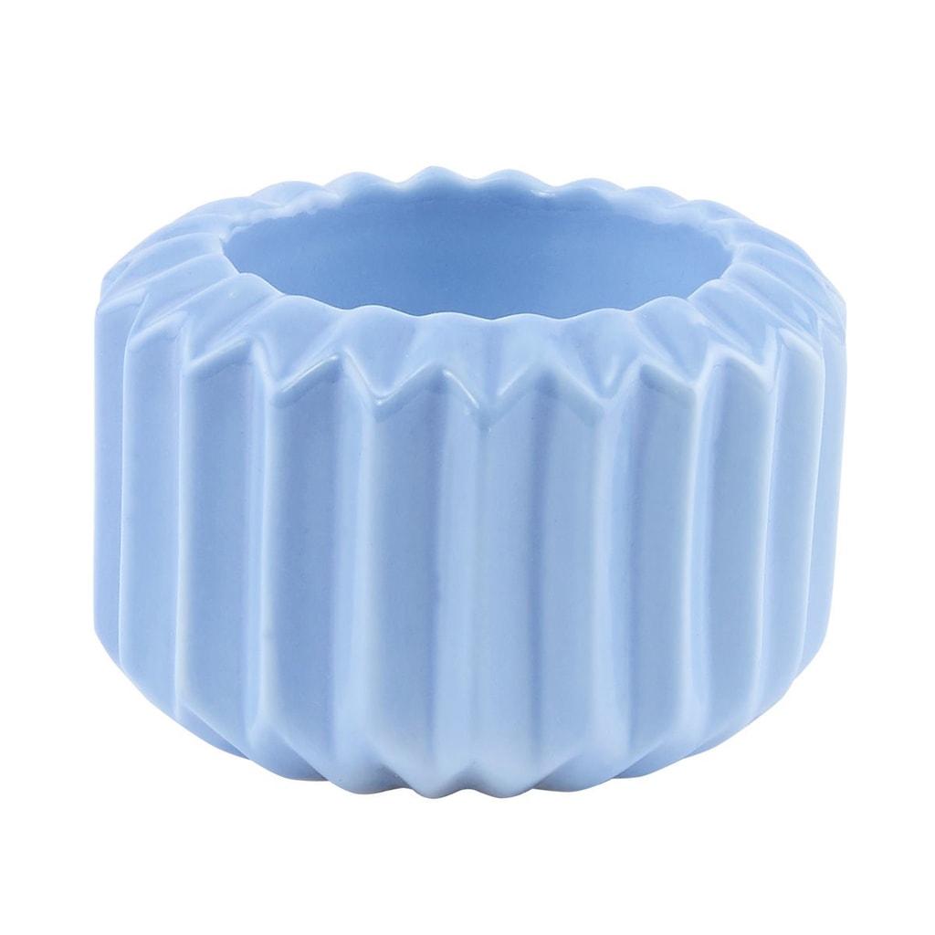 SPHERE Svícen na čajovou svíčku - modrá