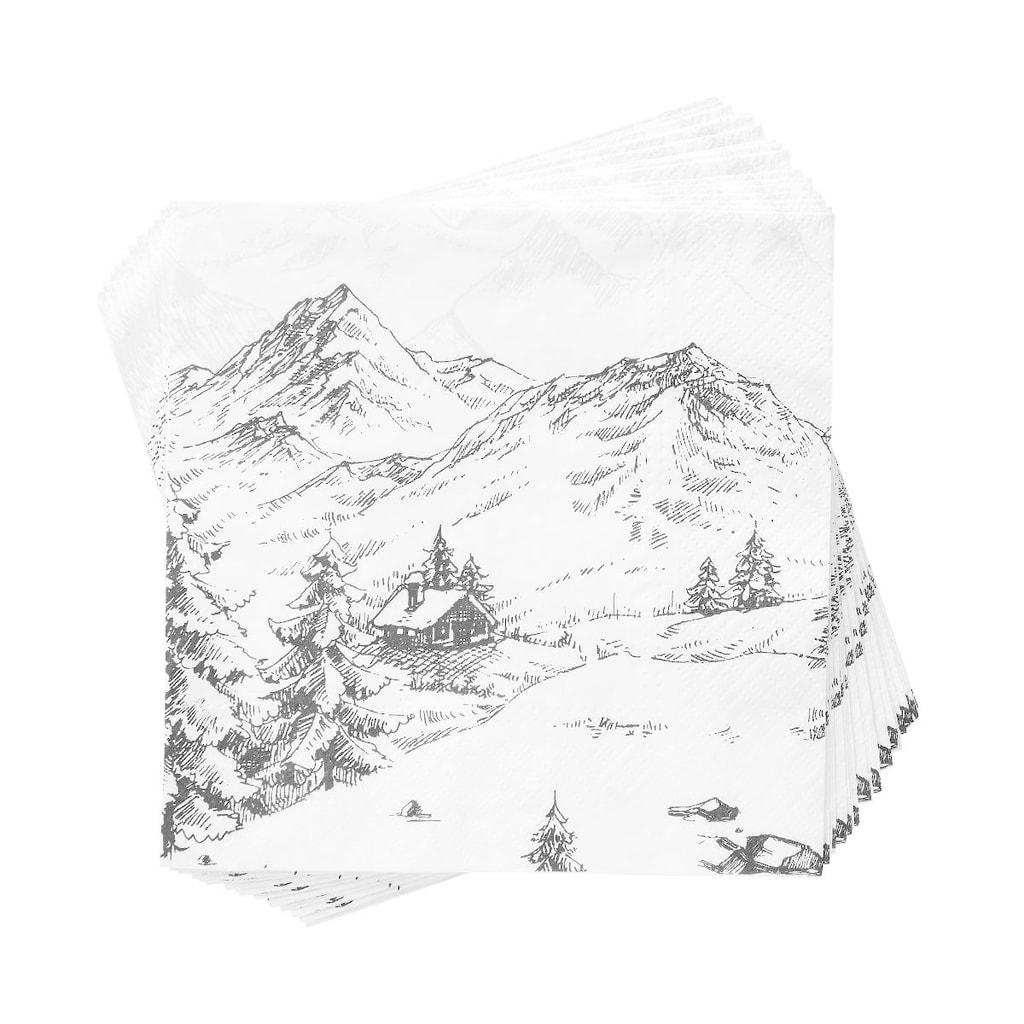APRÉS Papírové ubrousky Alpy
