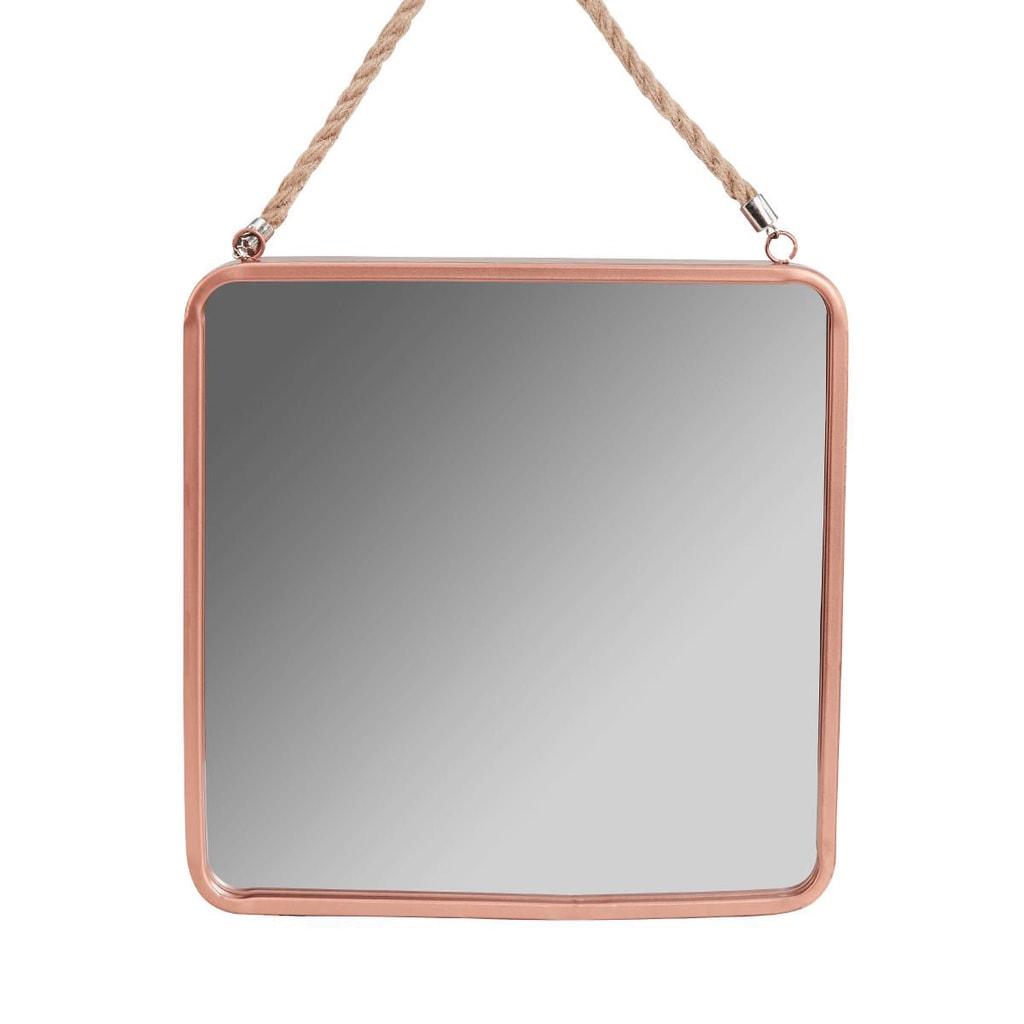 A LOFT Závěsné zrcadlo 30 cm - růžová zlatá