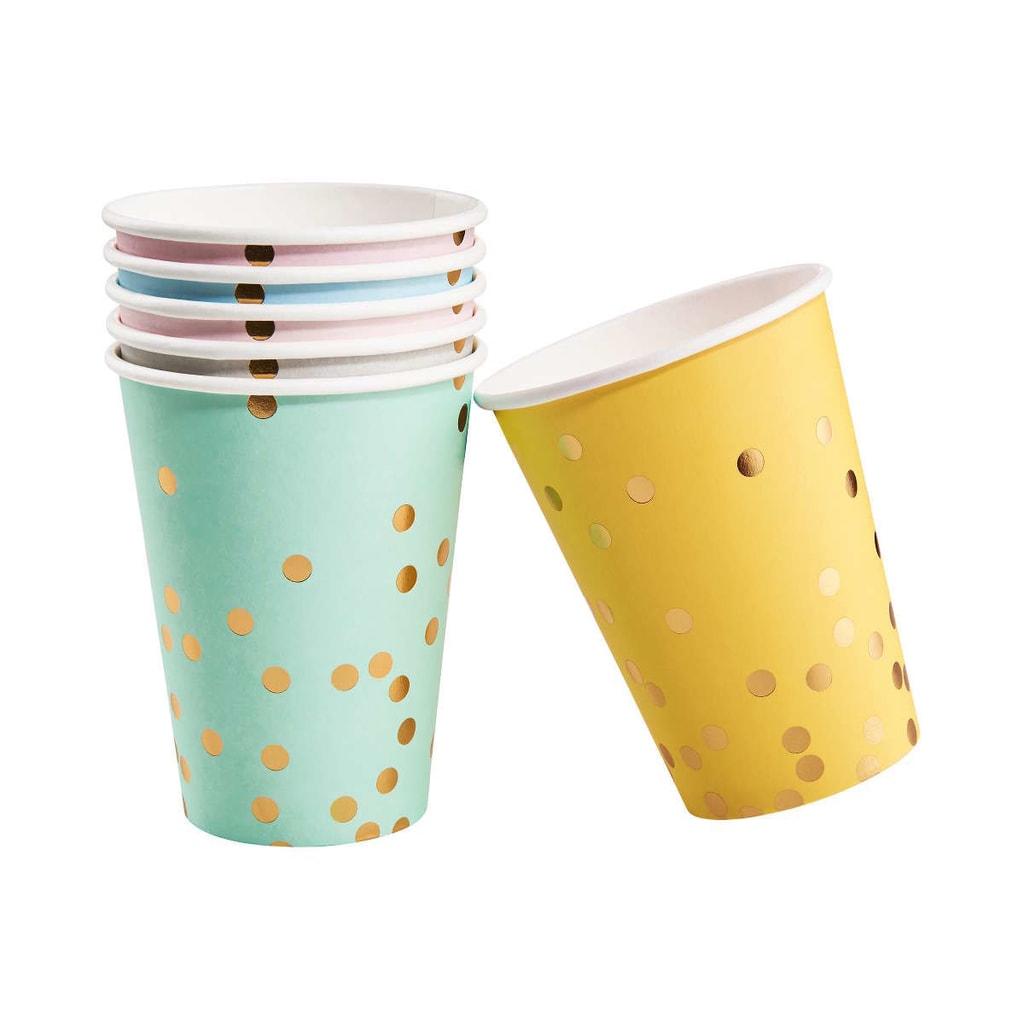 CELEBRATION Papírové kelímky konfety 6 ks - mix