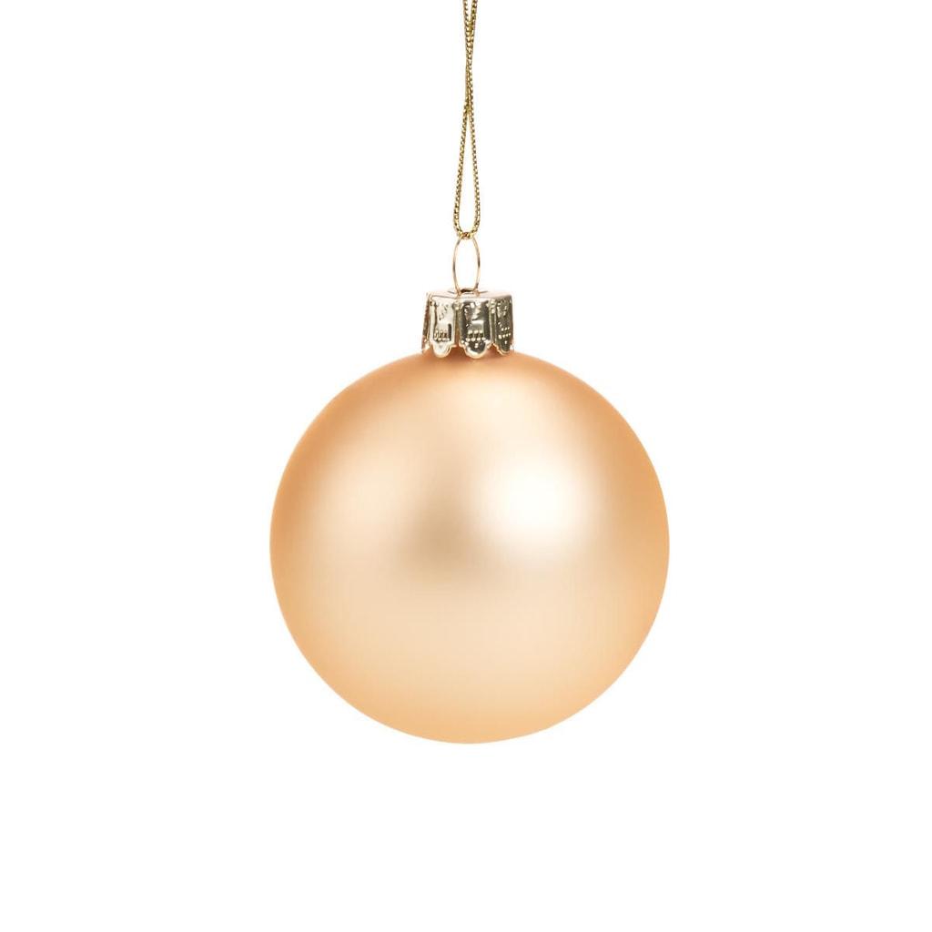 HANG ON Skleněná koule 6 cm - zlatá matná