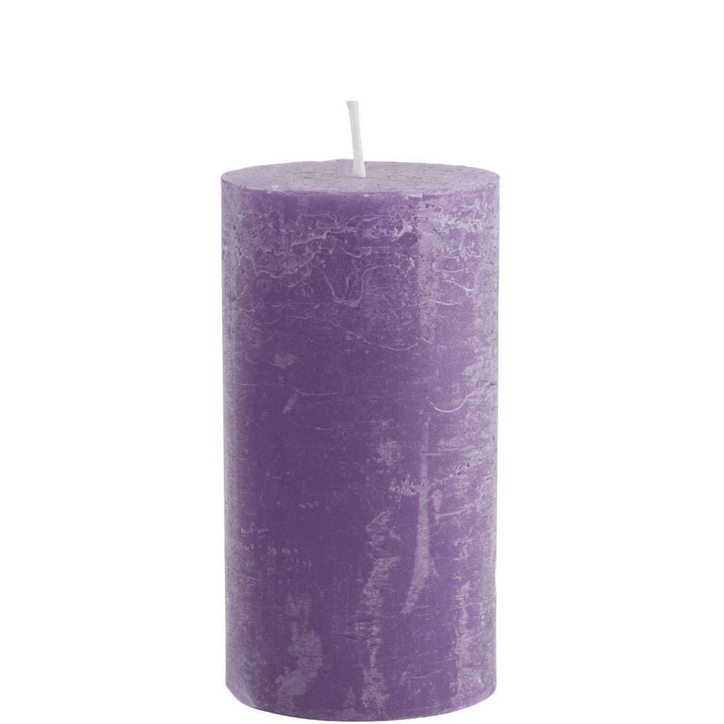RUSTIC Svíčka 13 cm - fialová