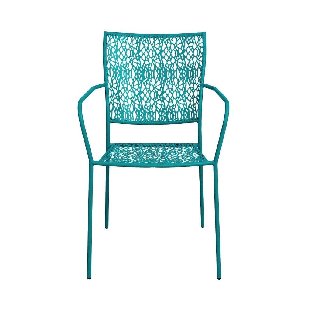 NANCY Židle s područkami - petrolejová