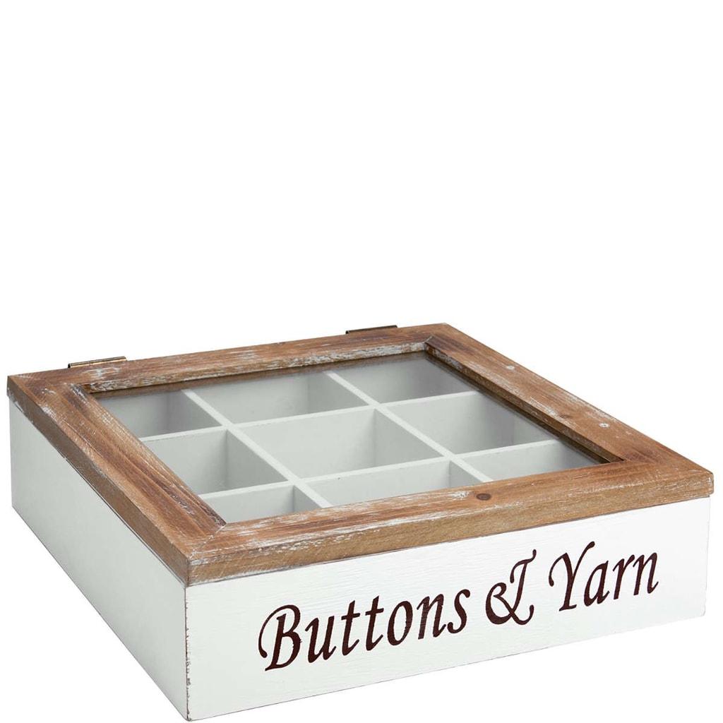 CAMPAGNE Box na šicí potřeby 30x30x9 cm