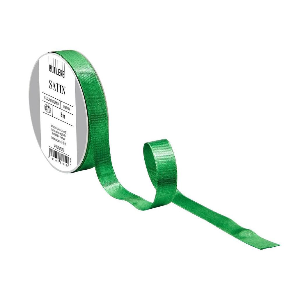 SATIN Dárková stuha tenká - zelená