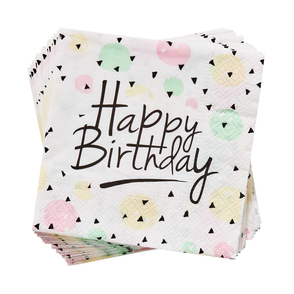 "APRÈS Papírové ubrousky ""Happy Birthday"" 20 ks"