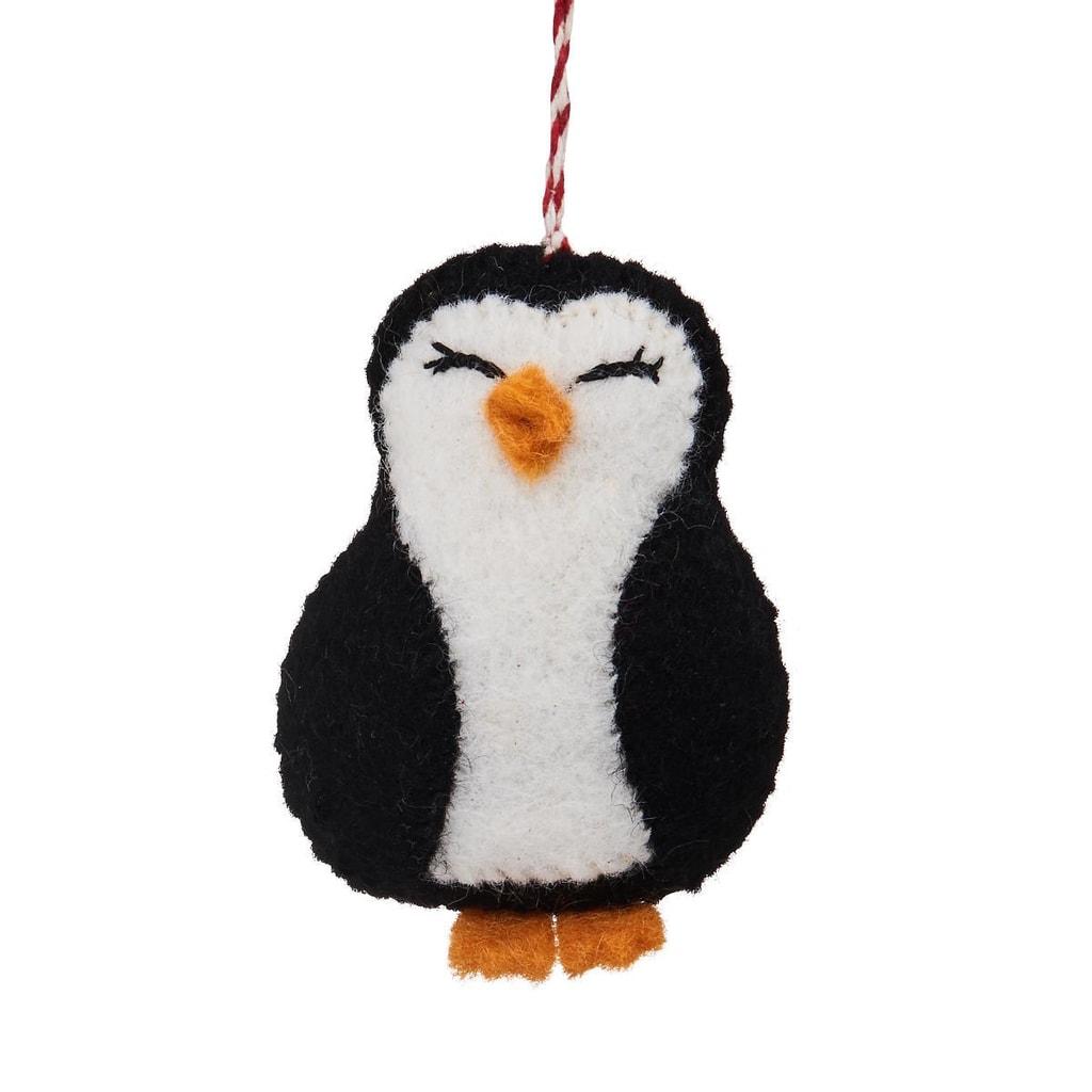 HANG ON Ozdoba filcová hlava tučňáka
