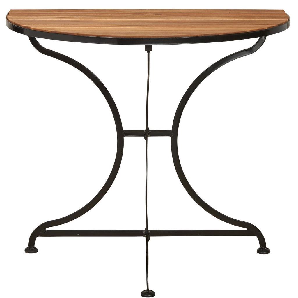 PARKLIFE Balkónový skládací stolek - hnědá/černá