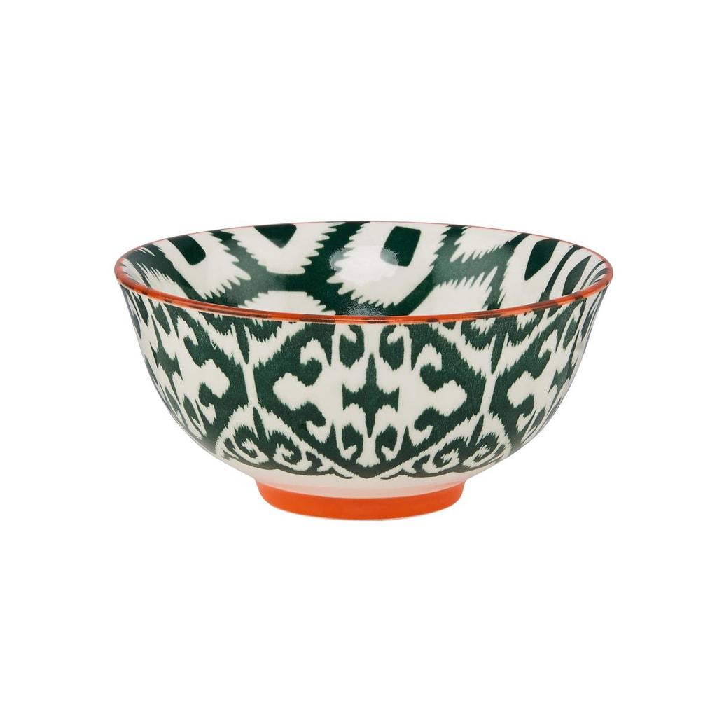 ORNAMENTS Porcelánová miska, 11 cm - zelená