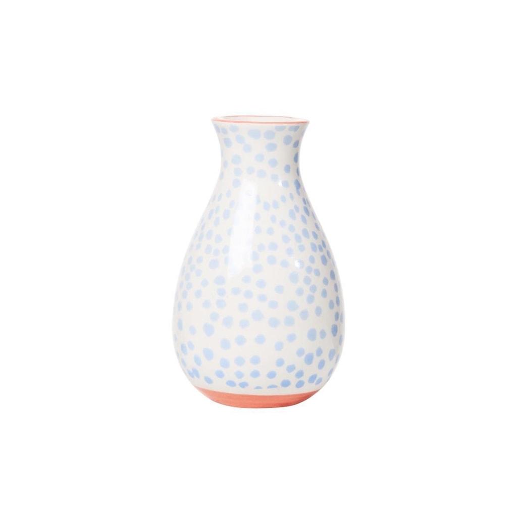 MISS DAISY Váza keramická puntíky 11 cm - sv. modrá