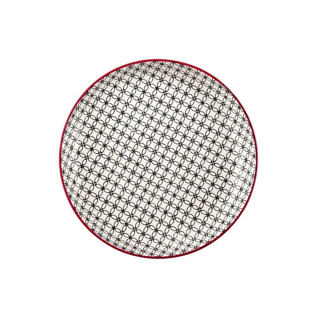 RETRO Talíř hluboký 21 cm - černá