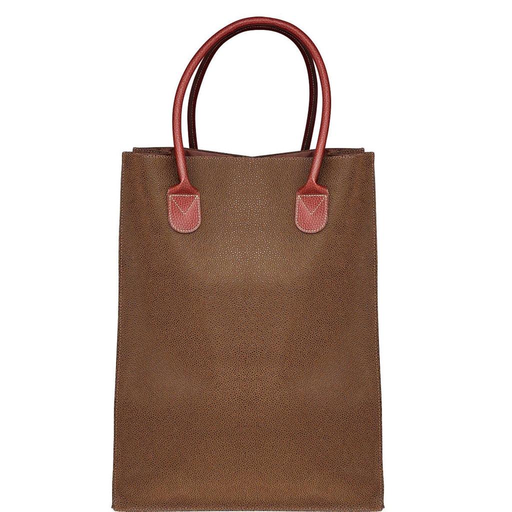 PACK & RIDE Nákupní taška - hnědá