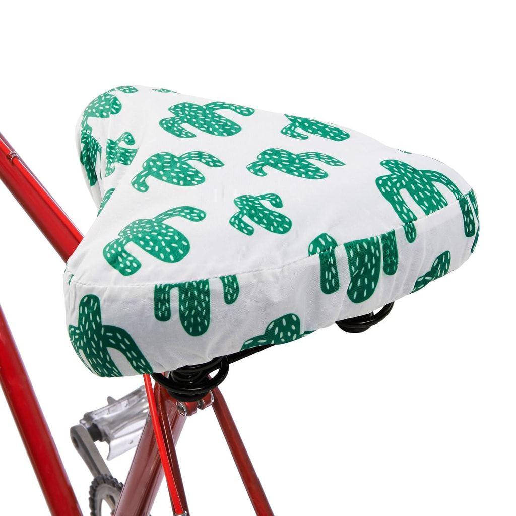 I LOVE MY BIKE Potah na sedlo kaktus