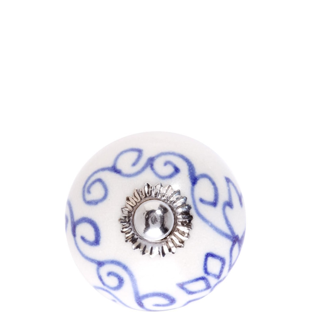 OPEN Nábytková úchytka modrý ornament