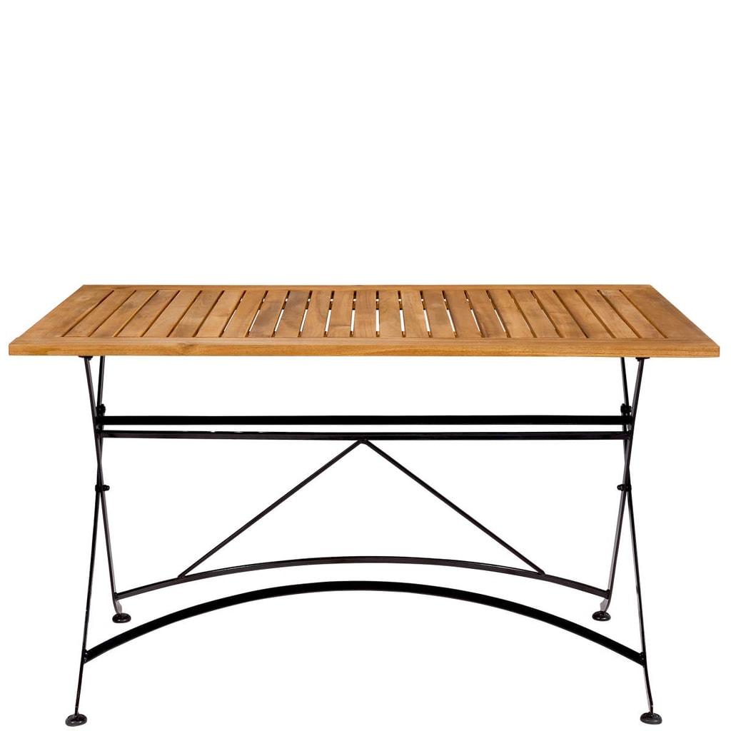 PARKLIFE Stůl 80x130cm - černá/hnědá