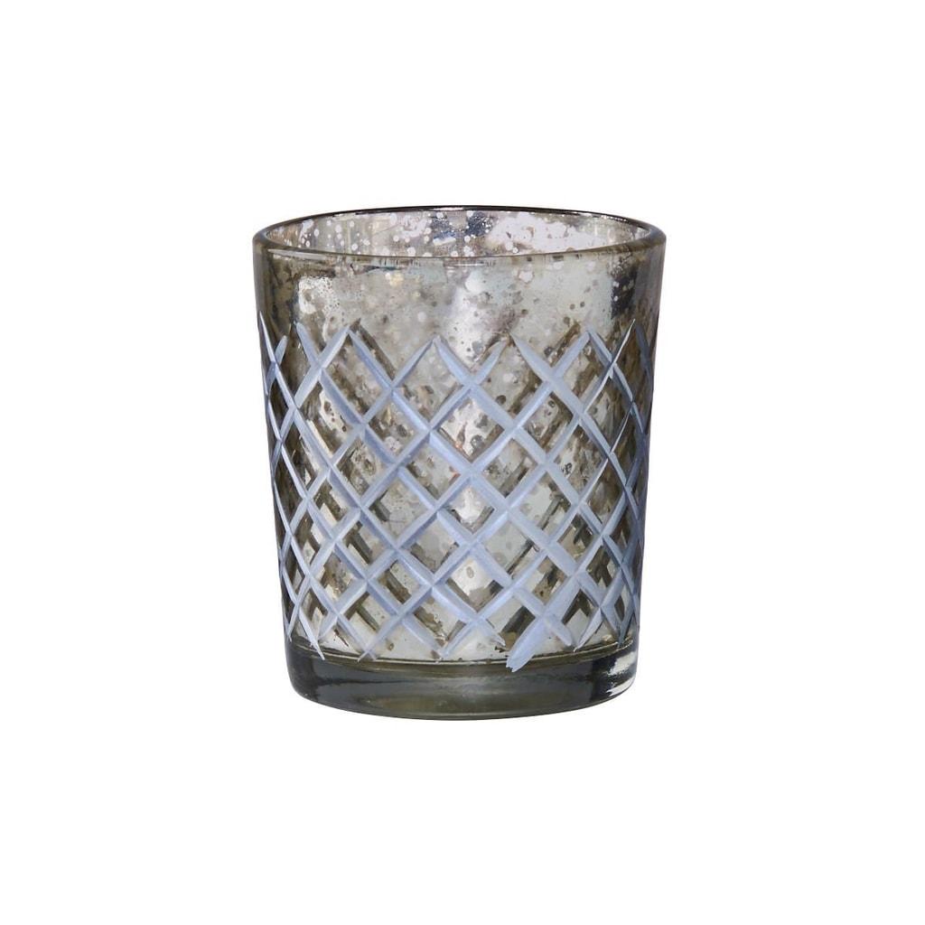 DELIGHT Svícen na čajovou svíčku diamantové broušení - malý