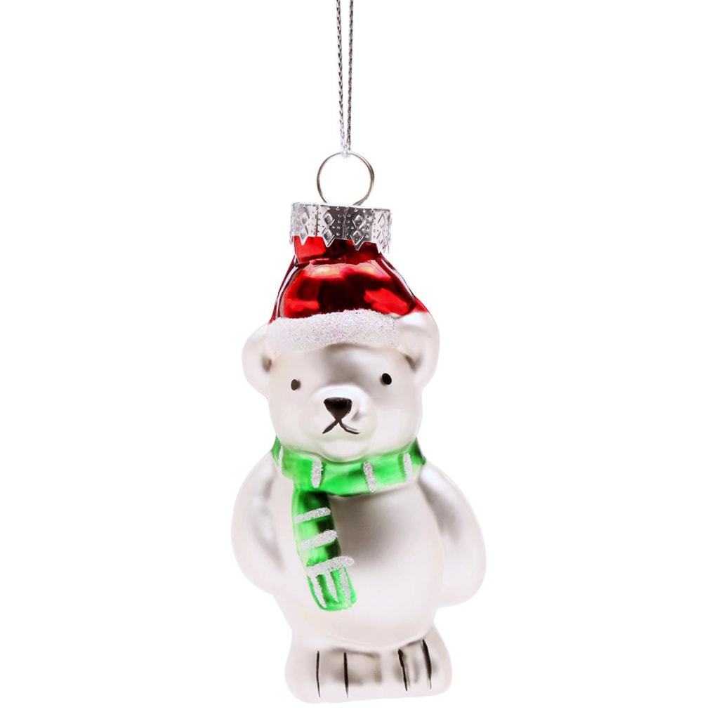 HANG ON Ozdoba lední medvěd s čepicí