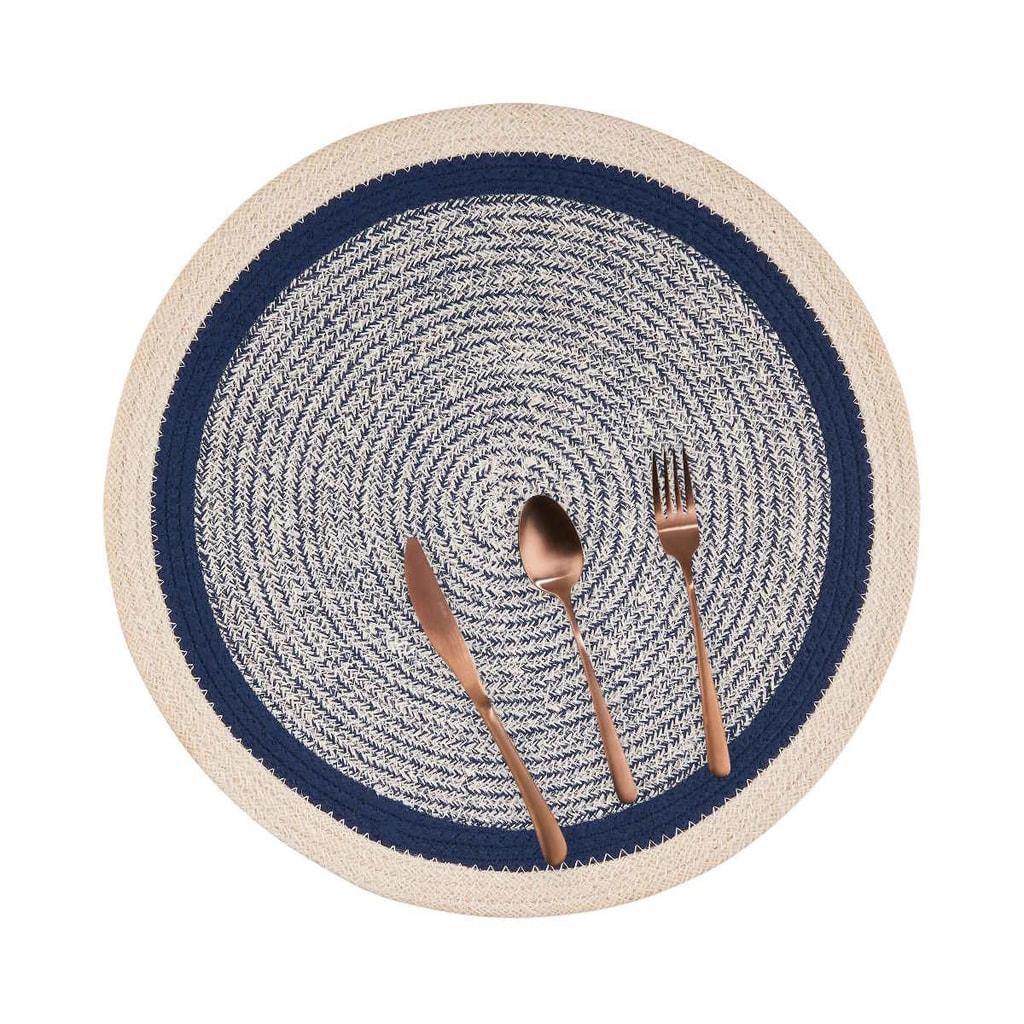 SAUVAGE Prostírání 38 cm - modrá/bílá