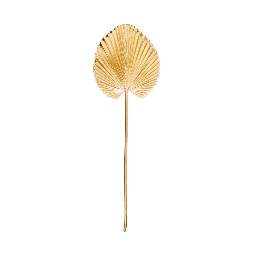 WINTERGREEN Palmový list metalický 75 cm