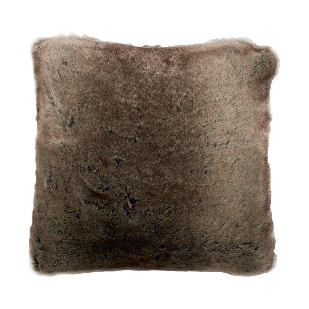 WILD THING Polštář z umělé kožešiny - hnědá