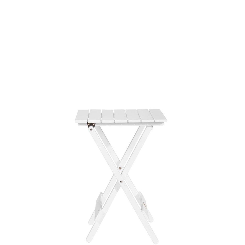 LODGE Mini skládací stůl - bílá
