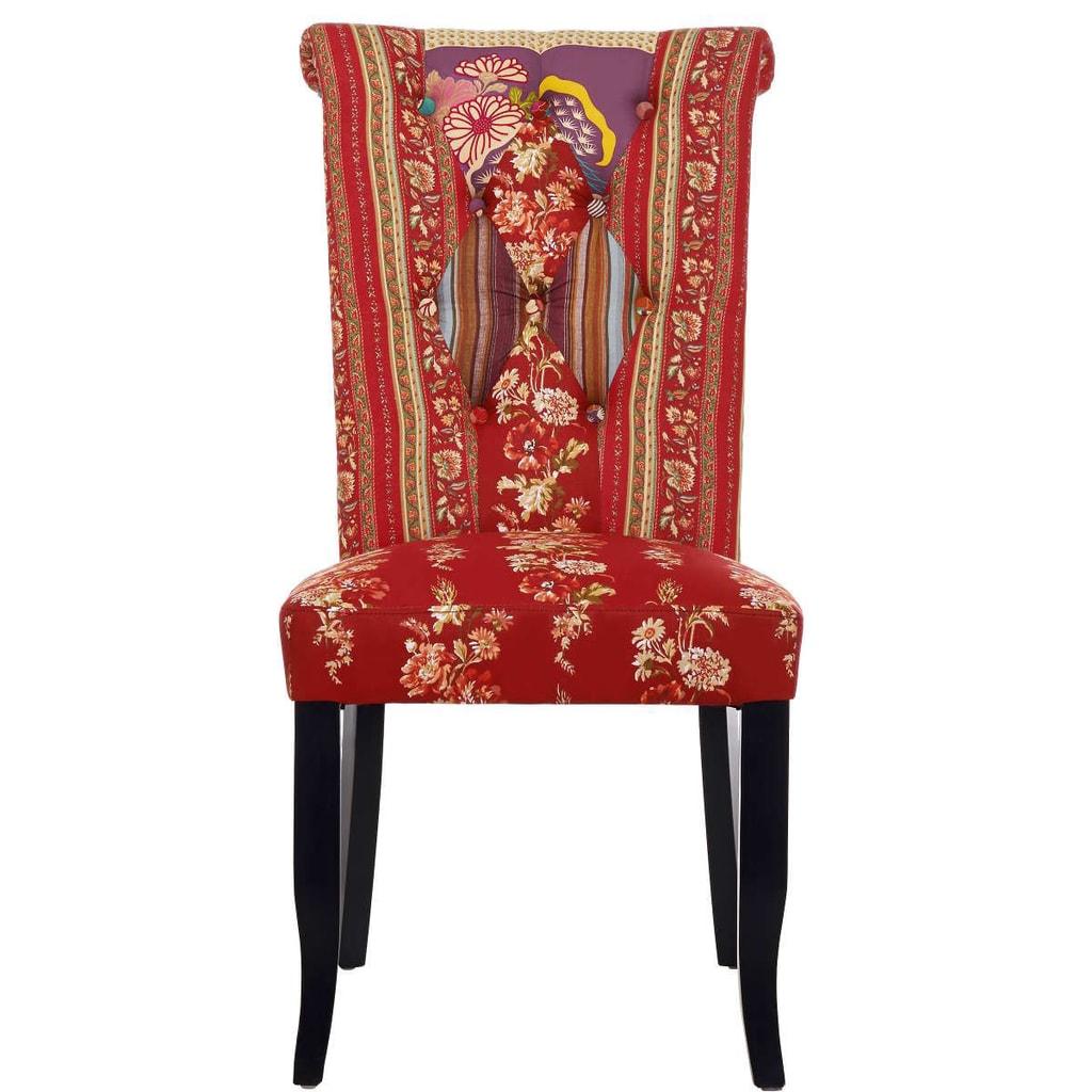 PATCH Patchwork židle - červená