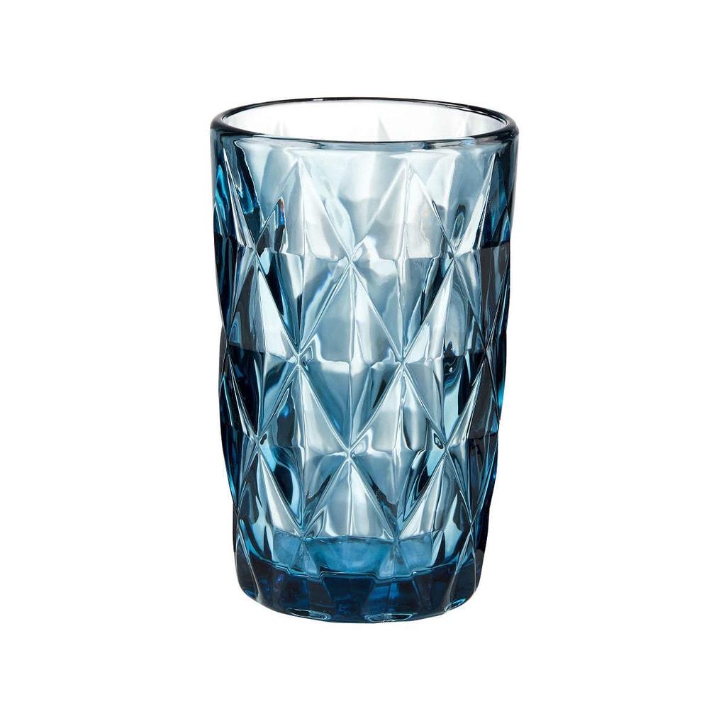 MONT FLEURI Sklenice diamant 315 ml - modrá