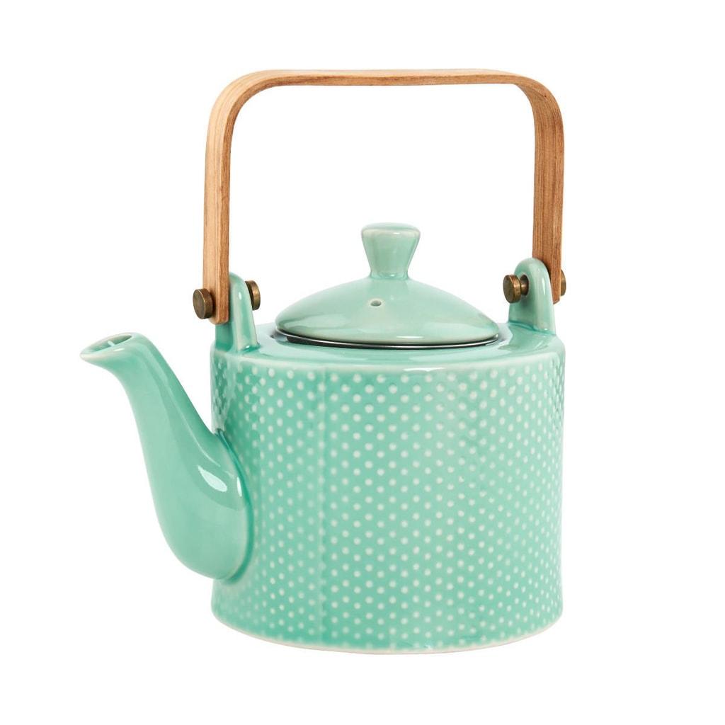 HANAMI Konvička na čaj s dřěvěnou rukojetí