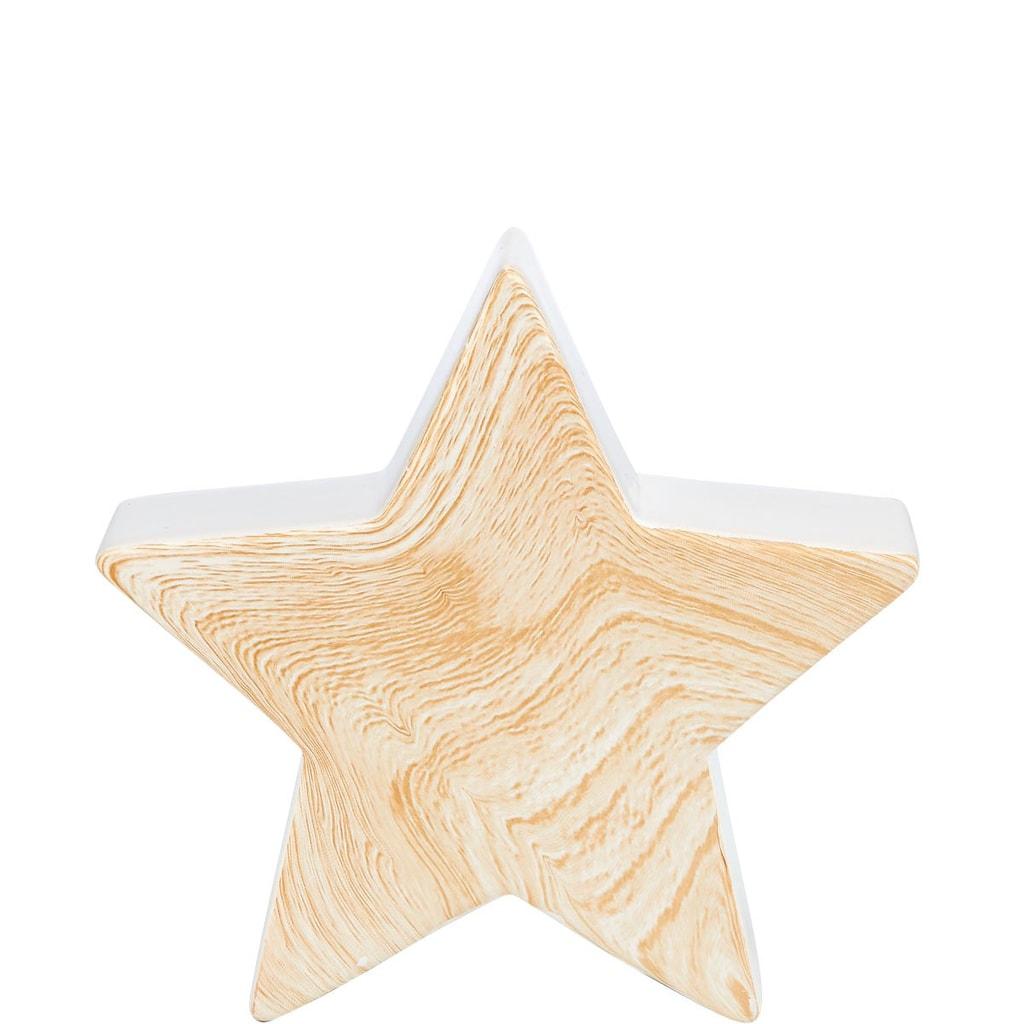X-MAS Dekorační hvězda vzhled dřeva malá
