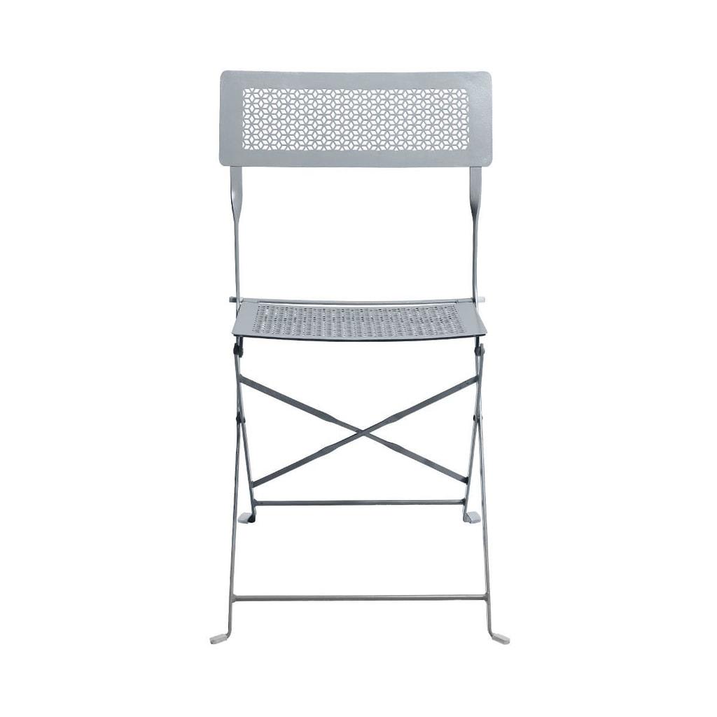 PATTERTON PARK Skládací židle - šedá