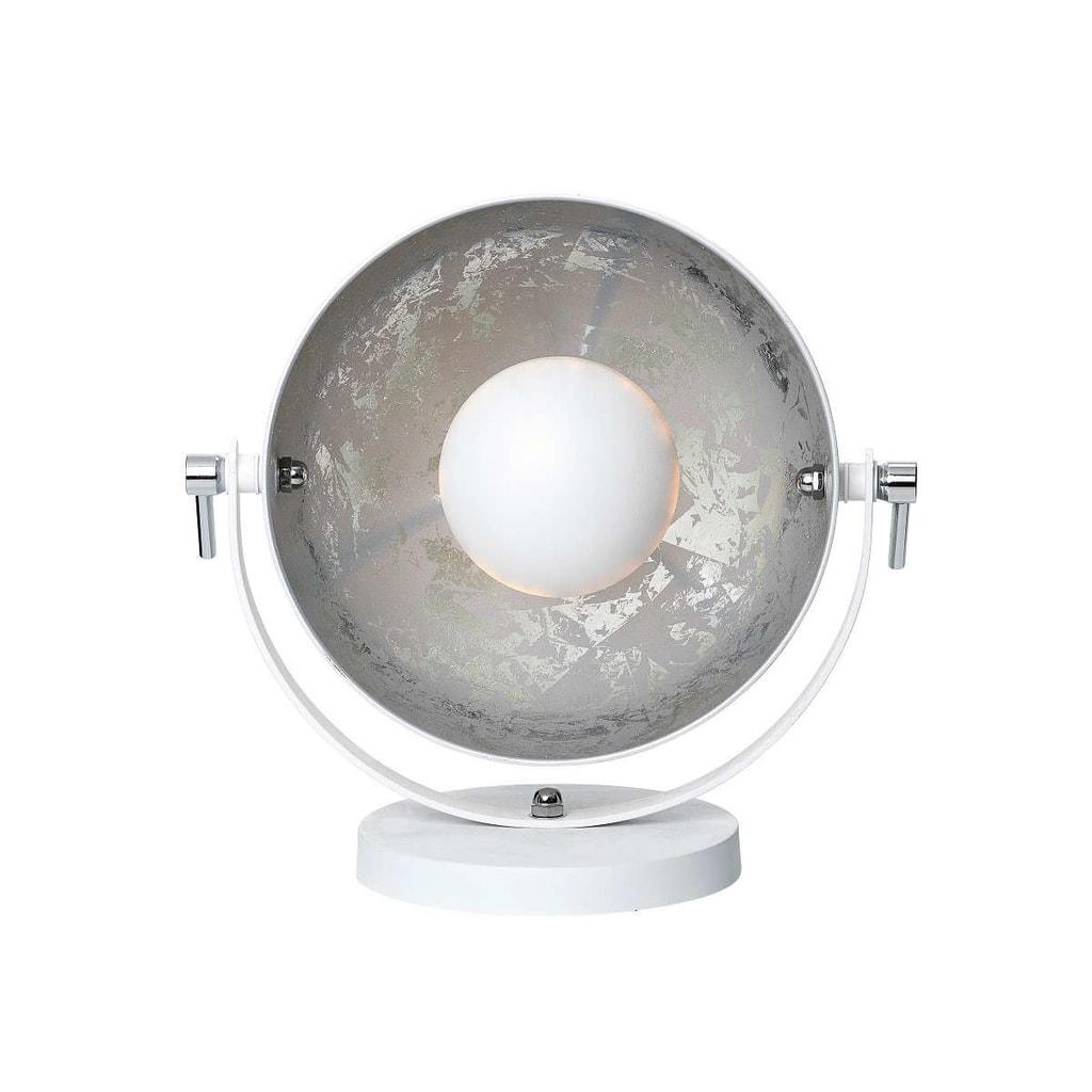 SATELLIGHT Stolní lampa 38 cm - bílá/stříbrná