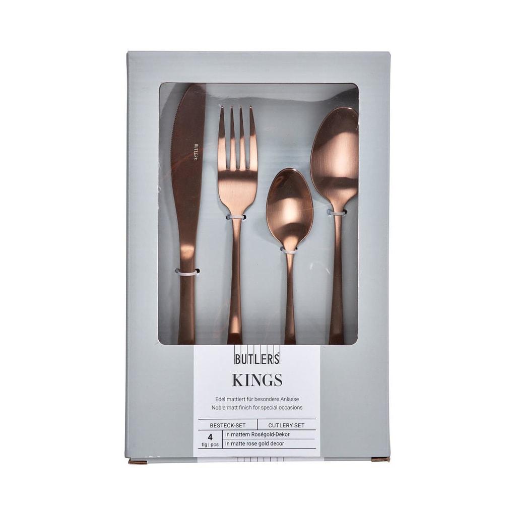 KINGS Příbor set 4 ks - růžová zlatá