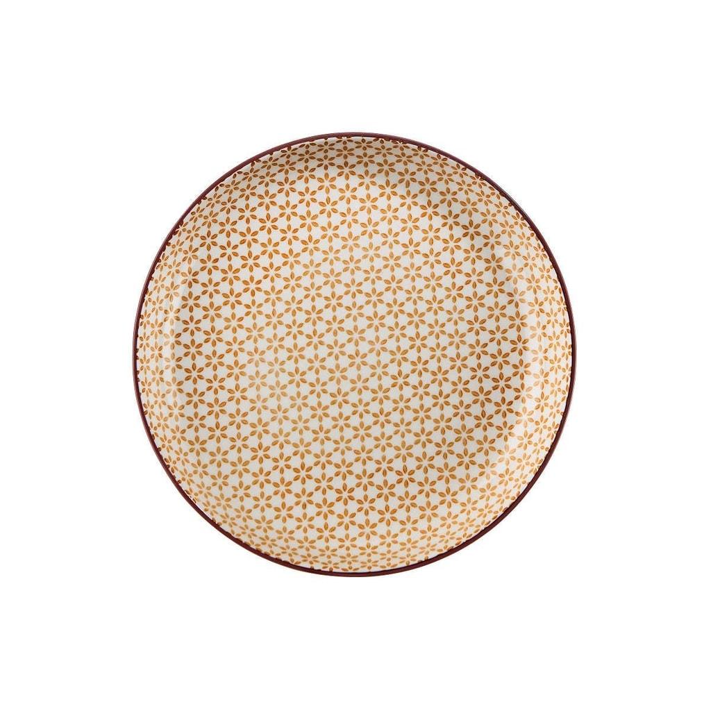 RETRO Talíř hluboký 21 cm - zlatá