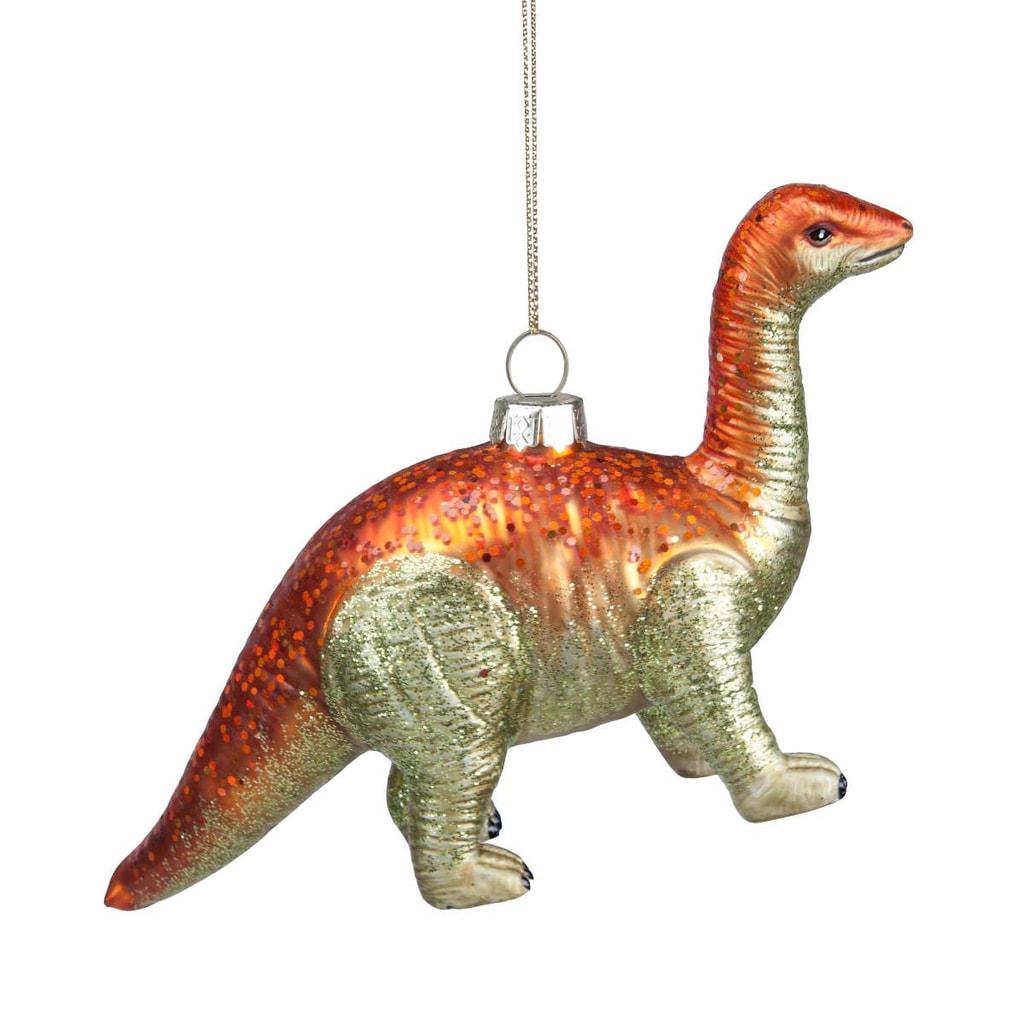 HANG ON Ozdoba dinosour - zelený/oranžový