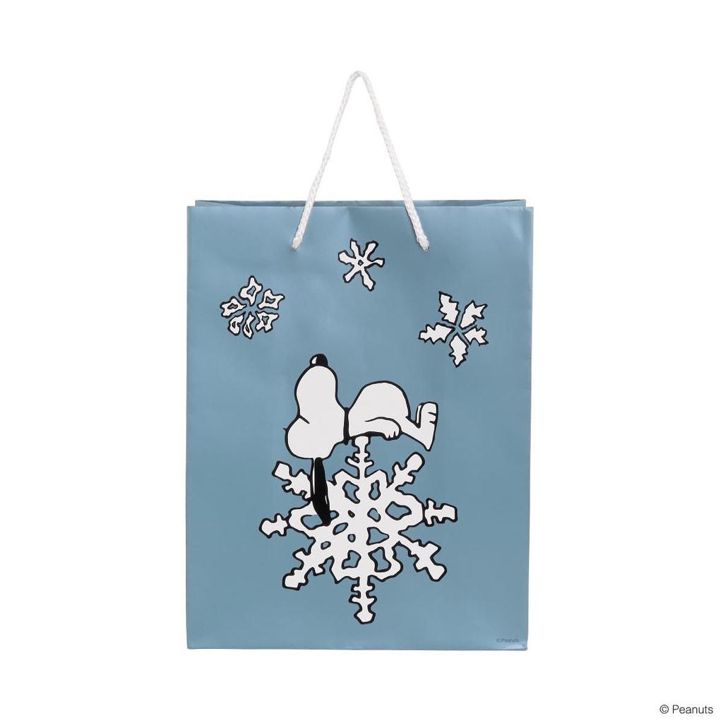 PEANUTS Dárková taška Snoopy sněhová vločka velká