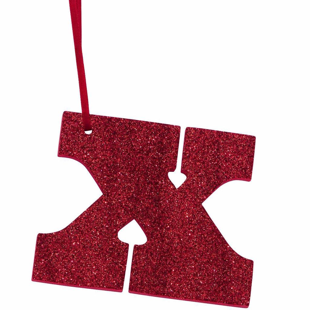 HAPPY GIFT Písmeno s třpytkami X