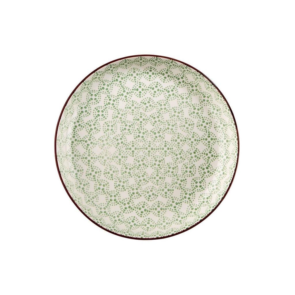 RETRO Talíř hluboký 21 cm - zelená