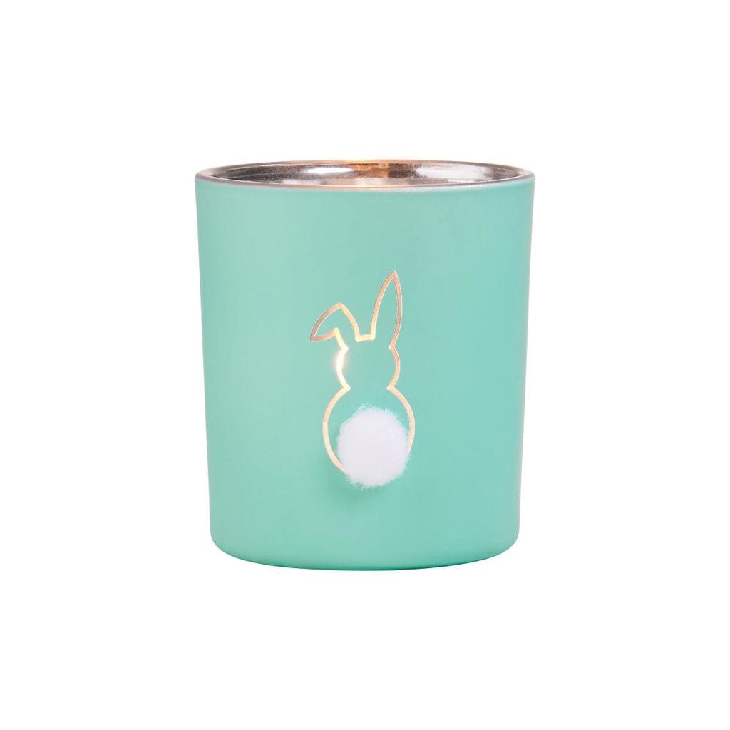 SOME BUNNY Svícen na čajovou svíčku 8 cm - mátová