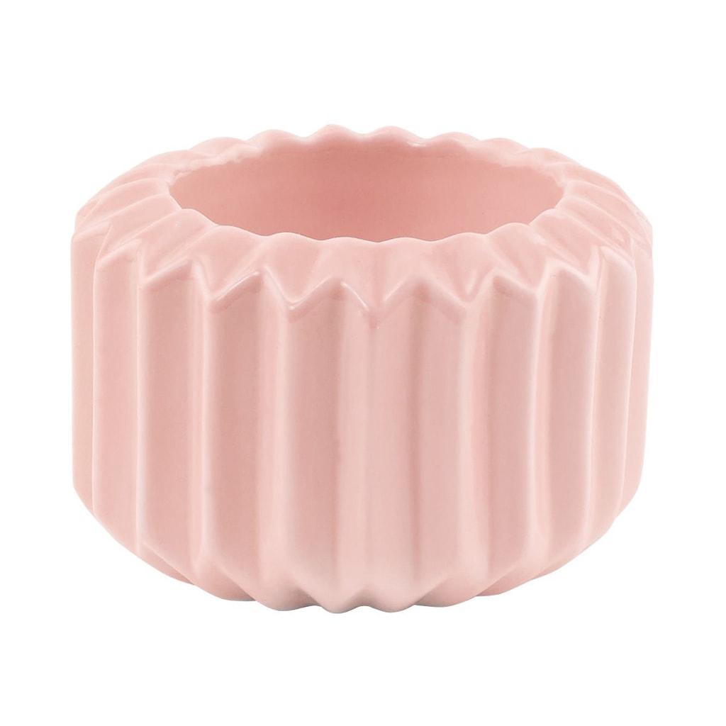 SPHERE Svícen na čajovou svíčku - růžová