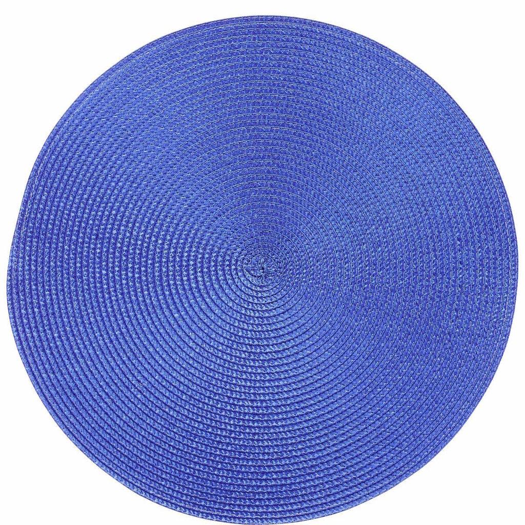 AMBIENTE Prostírání kulaté - kobaltová modř