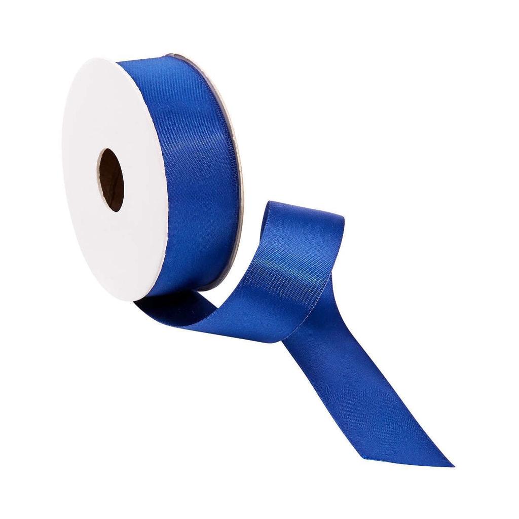 SATIN Dárková stuha široká - modrá